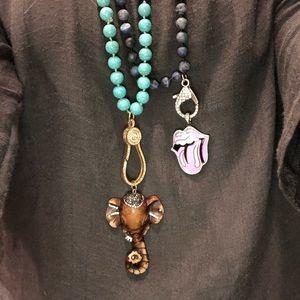 Handmade beaded pendant necklaces